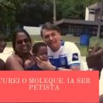 """Bolsonaro brinca e """"cura"""" criança que seria """"petista"""""""